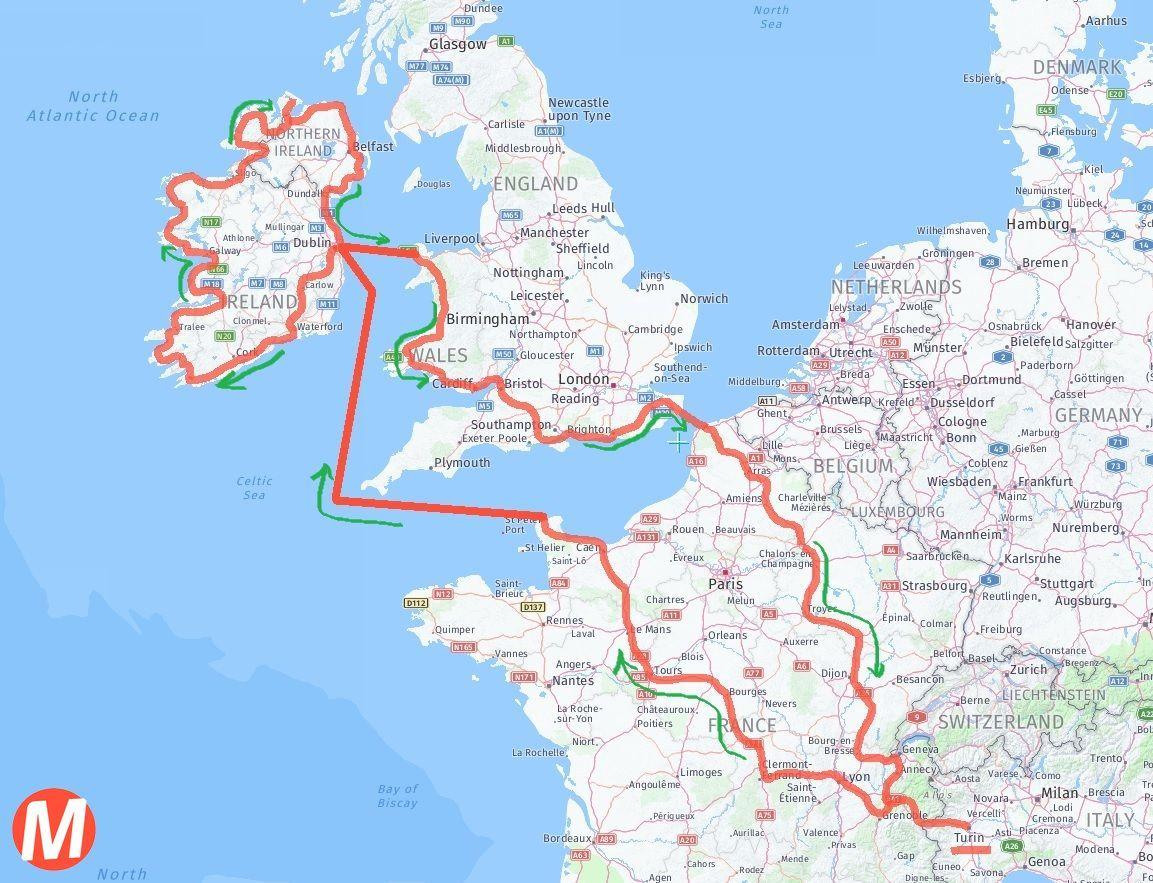 Irlanda Del Nord Cartina Geografica.Irlanda In Moto Agosto